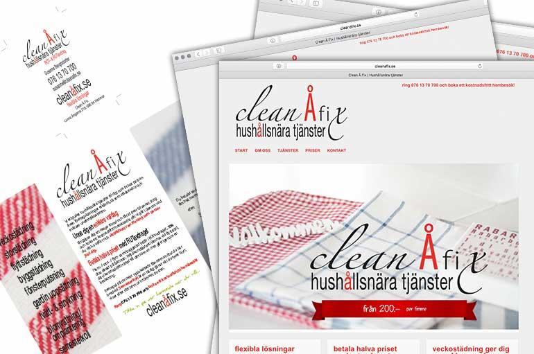 Clean Å Fix hemsida och profil DCD REKLAMBYRÅ