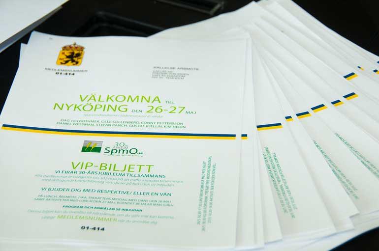 vip biljett till SpmO event DCD REKLAMBYRÅ